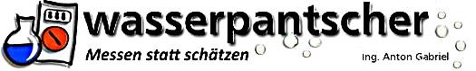 wasserpantscher.at Wasser messen statt schaetzen-Logo